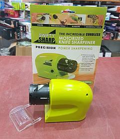 Электрическая точилка для ножей и ножниц SWIFTY SHARP (на батарейках)