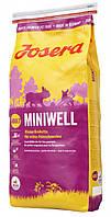 """Сухой корм """"Josera Miniwell"""" 27/16 (мяса птицы и риса для взрослых собак мелких пород) 4 кг"""