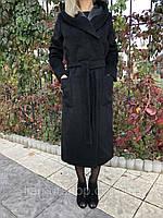Пальто демисезонное FORUM черный 18-01 шерсть 50(р)