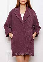 cbf0ba6be62 Пальто женское Samange фиолетовый 799 161 шерсть букле 44(р)