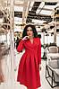 S, M, L, XL / Изысканное вечернее платье на запах Janise, красный, фото 2