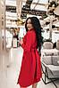 S, M, L, XL / Изысканное вечернее платье на запах Janise, красный, фото 3