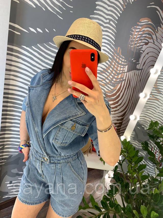 женский джинсовый комбинезон опт