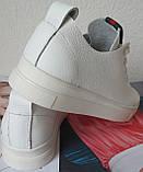Gucci! Белого цвета  красивые кожаные кеды мокасины женские слипоны в стиле Гуччи, фото 8