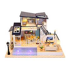 """3D Румбокс """"Котедж з басейном"""" - Ляльковий Дім Конструктор / DIY Cottage Doll House від CuteBee"""