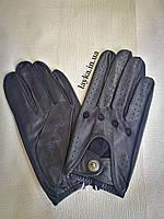 Кожаные мужские перчатки без подкладки