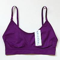 Бюстгальтер бесшовный фиолетовый А(1) - В(2)
