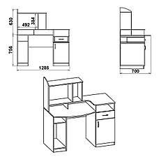 Стол компьютерный с надстройкой Комфорт-2, фото 2