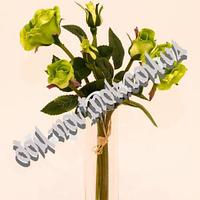 Букет силиконовых роз, 6 шт, зеленый