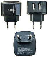 Мережевий зарядний пристрій USB Hoco C26A 2USB (2.4 A) Чорний