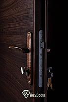 Нестандартные входные двери метал/ДСП 190 см. на улицу, фото 3