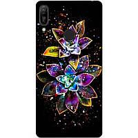 Силиконовый чехол для Huawei Y6 2019 с рисунком Волшебные цветы