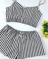 Пижама женская Хлопковая. одежда для сна и дома. Топ и шортики