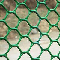 Сетка пластиковая 0.5х30 м ячейка 20х20 мм для забора вольера
