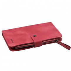 Женский кошелек Baellerry Miracle JC224 Malina малиновый, женское портмоне, клатч