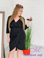 Осеннее женское платье большого размера (р. 42-90) арт. На запах