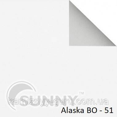Рулонные шторы для окон в закрытой системе Sunny с плоскими направляющими - ПЛАСТИК, ткань  Alaska BO
