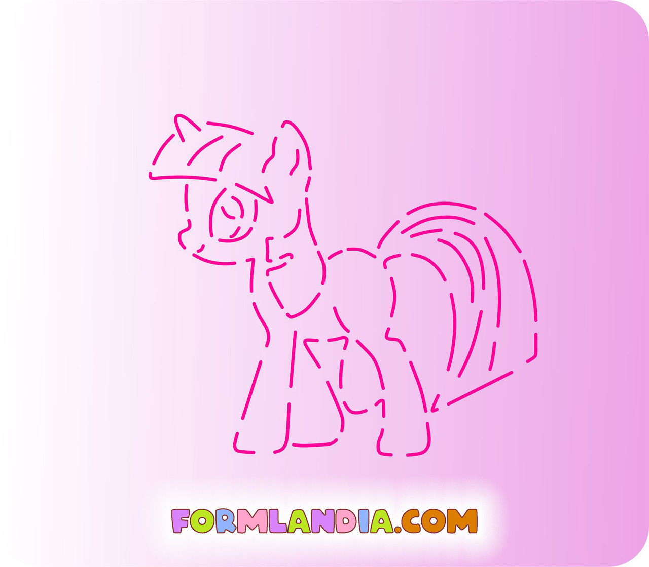 Трафарет + форма Маленькие пони №1