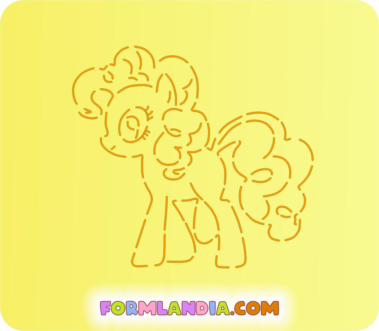 Трафарет + форма Маленькие пони №2
