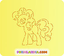 Трафарет + форма Маленькі поні №2