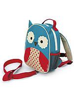 Рюкзак Skip Hop детский с Поводком Сова Голубой 9917