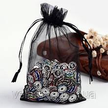 Мешочек из органзы 10х15 см Черный