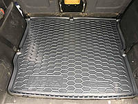 Коврик в багажник Opel Zafira 1998-2004 резиновый, без запаха