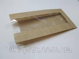 Пакет бумажный 10*3,5*21 см коричневый (1000шт/уп)