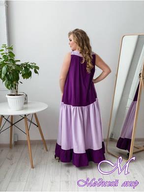 Летнее длинное платье большого размера (р. 42-90) арт. Восток, фото 2