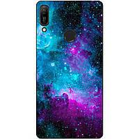 Силиконовый чехол для Huawei Y6 Prime 2019 с рисунком Галактика