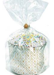 Упаковка полиэтиленовая прозрачная с широким дном для кулича, 22 см х 25см  (цена за 1 шт)