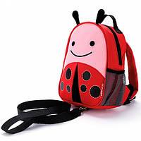 Рюкзак Skip Hop детский с Поводком Божья Коровка Красный 212256