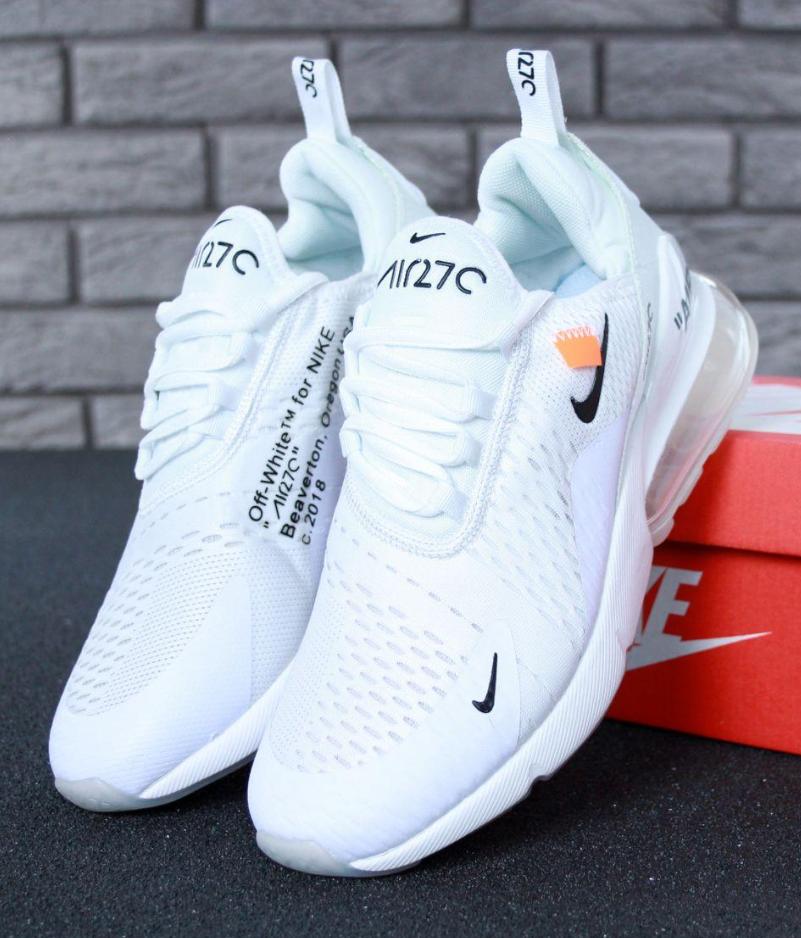 Женские кроссовки Off-White x Nike Air Max 270 White
