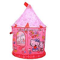 Детская игровая палатка домик «Замок Китти» SG70033HK. Ребенок сможет комфортно играть в палатке., фото 7