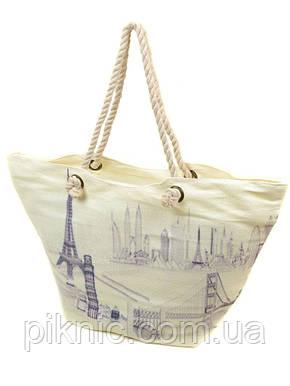 Сумка пляжная текстиль Модерн. Большая женская тканевая сумка на пляж, фото 2