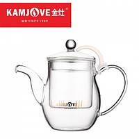 Cтеклянный заварочный чайник Kamjove AC-10, 500 мл, фото 1