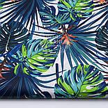 """Лоскут ткани """"Джунгли"""" сине-зелёного цвета № 1489а, фото 2"""