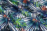 """Лоскут ткани """"Джунгли"""" сине-зелёного цвета № 1489а, фото 4"""