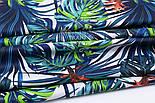 """Лоскут ткани """"Джунгли"""" сине-зелёного цвета № 1489а, фото 5"""