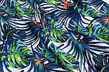 """Отрез ткани """"Джунгли"""" сине-зелёного цвета (№ 1489а), фото 8"""