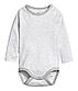 Комплект сірих боді з довгим рукавом на хлопчика 2 - 4 місяці, р. 62, H&M, фото 3