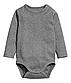 Комплект сірих боді з довгим рукавом на хлопчика 2 - 4 місяці, р. 62, H&M, фото 2