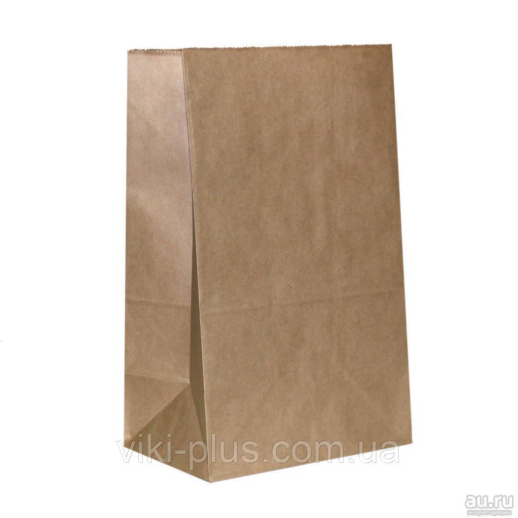 Пакет бумажный 14*5*32 см коричневый (1000шт/уп)