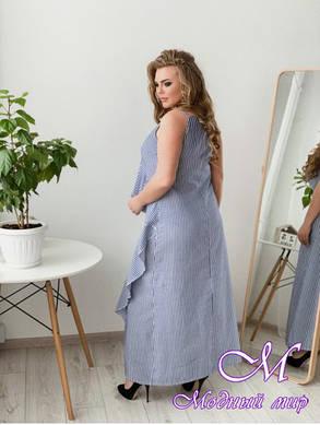 Льняное летнее платье больших размеров (р. 42-90) арт. Дейзи, фото 2