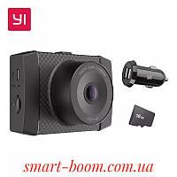 Видеорегистратор Xiaomi Yi Ultra Dash Camera 140° 2688*1520 2K voice control GPS WIFI +CD card16Gb