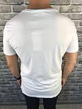 Трендовая Мужская Футболка Gucci белая Качество 100% Хлопок Новинка 2019 года Гуччи реплика, фото 2