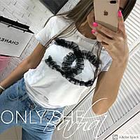 Женская модная футболка  БХ350, фото 1