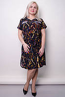 Платье-рубашка большого размера Ирина синий, фото 1