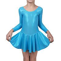 Купальник для танцев и гимнастики Rivage line 6055 блестящий Голубой
