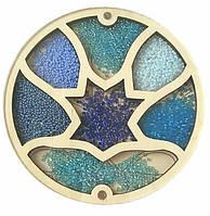 Деревянный органайзер для бисера с крышкой  Shasheltoys Цветочек на 7 ячеек диаметр 15 см (060103)
